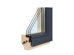 Drevohliníkové okná ALU contour Drevohliníkové okná
